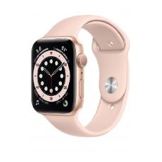 Apple Watch Series 6 GPS 44мм Aluminum Case with Sport Band, золотистый/розовый песок
