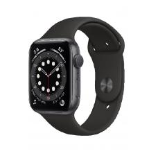 Apple Watch Series 6 GPS 44мм Aluminum Case with Sport Band, серый космос/черный