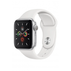 Apple Watch Series 5 GPS 40мм Aluminum Case with Sport Band, серебристый/белый