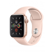 Apple Watch Series 5 GPS 44мм Aluminum Case with Sport Band, золотистый/розовый песок