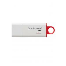 Флеш-накопитель USB KINGSTON DataTraveler G4 32ГБ, USB3.0, белый и красный