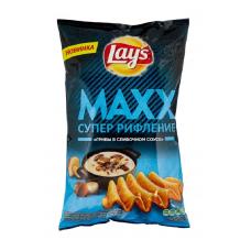 Чипсы Lay's Maxx картофельные Грибы в сливочном соусе, 145 г