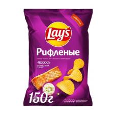 Чипсы Lay's картофельные Лосось в сливочном соусе рифленые, 150 г