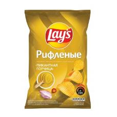 Чипсы Lay's картофельные Пикантная горчица рифленые, 150 г