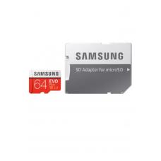Карта памяти microSDXC UHS-I U1 SAMSUNG EVO PLUS 64 ГБ, 100 МБ/с, Class 10, MB-MC64HA/RU, переходник SD
