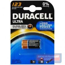 Батарейка Duracell Ultra CR123A BL1